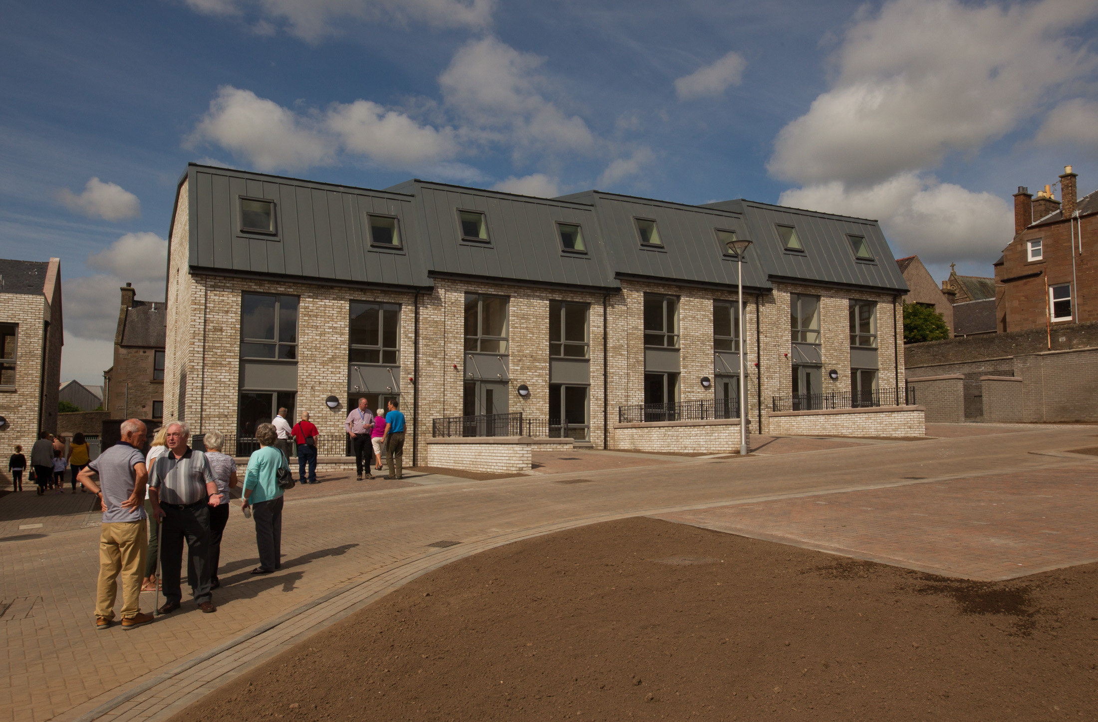 New housing on the site of Forfar's former Chapelpark primary school was completed by the council in 2018.
