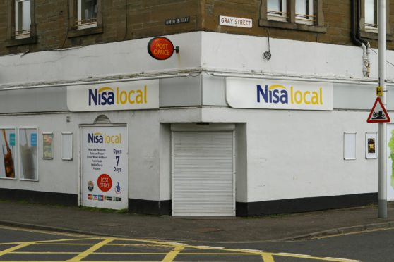 The old Nisa store on Gray Street in Broughty Ferry, which now houses a post office.