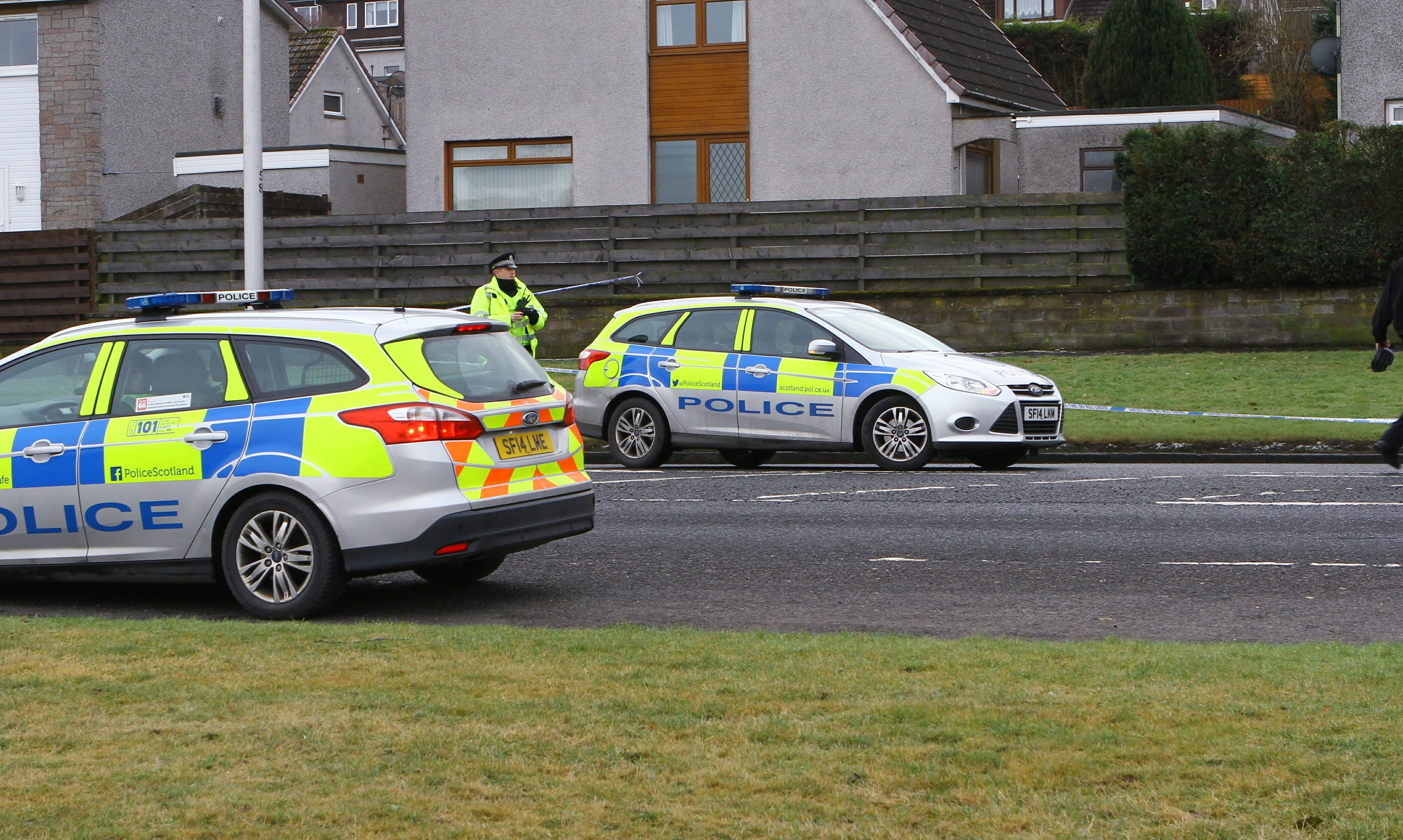 The police activity on South Road in Dundee.
