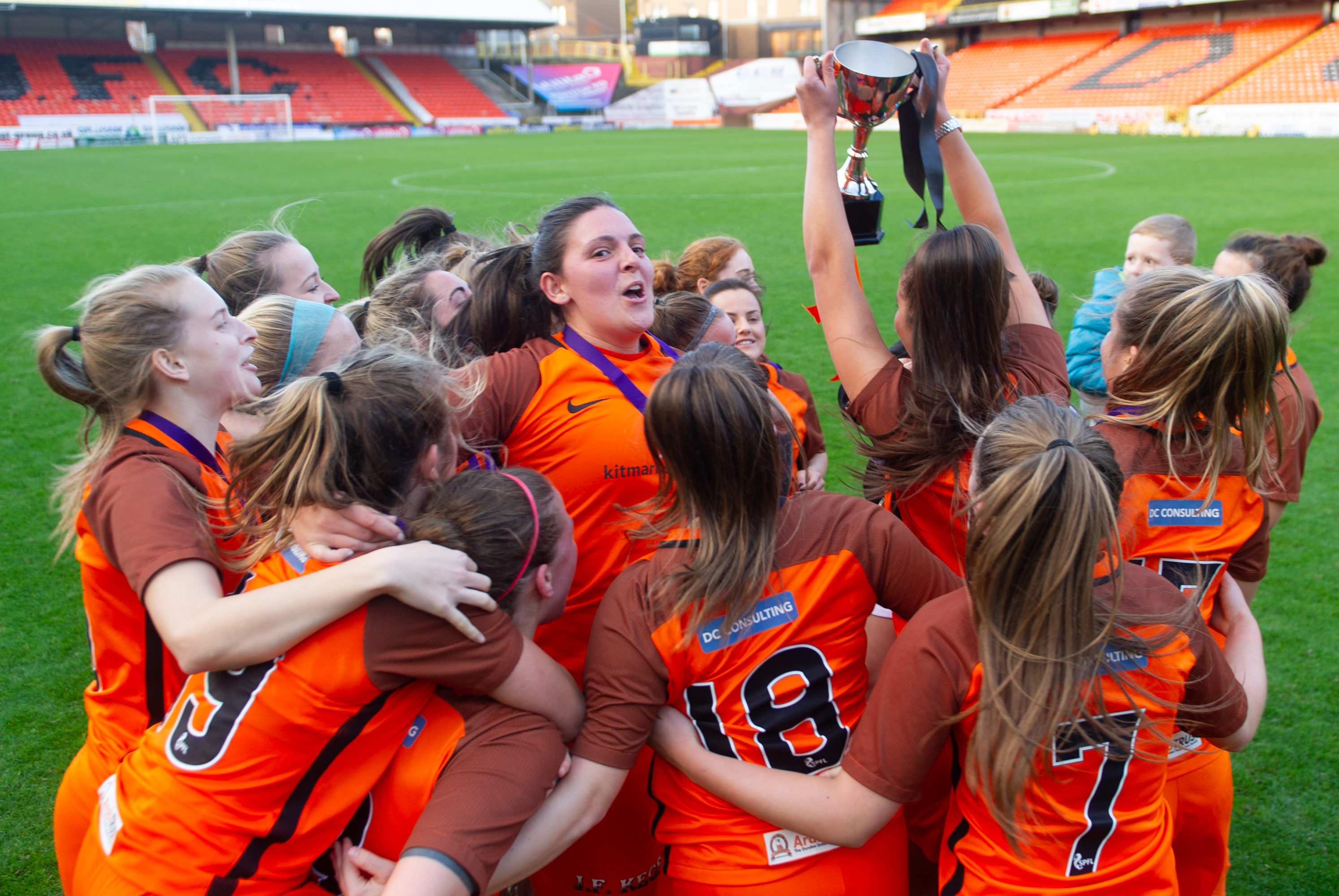 Dundee United Women FC won the SWFL trophy at Tannadice in October