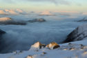 Climbing Buachaille Etive Beag, one of Scotland's Munros.