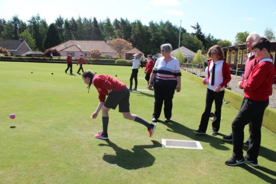One of the bowling sessions at Edzell.