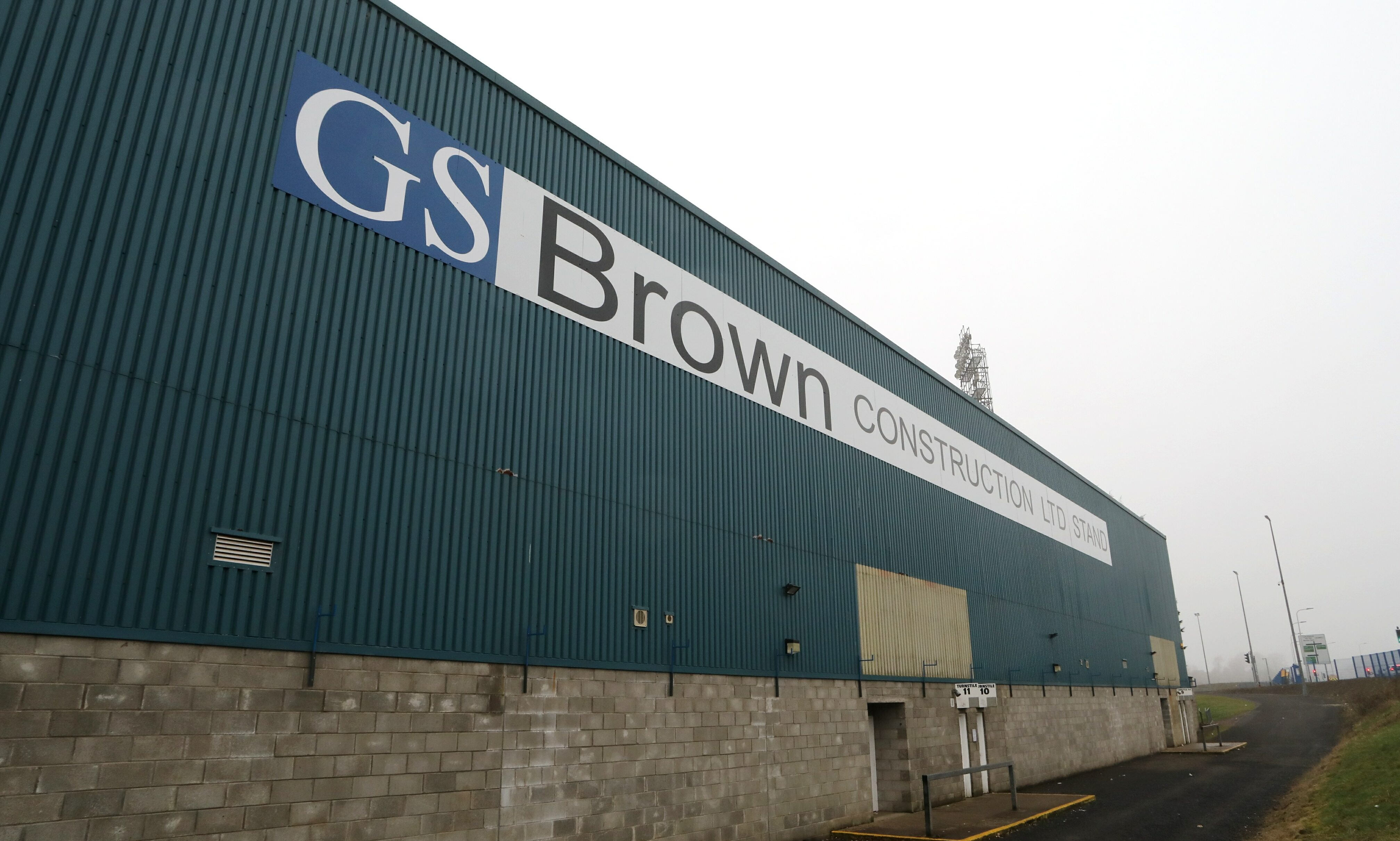 The offending sign at McDiarmid Stadium
