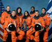 The crew of Space Shuttle Columbia's mission STS-107 take a break from their training regime to pose for the traditional crew portrait. Seated in front are astronauts Rick D. Husband (L), mission commander; Kalpana Chawla, mission specialist; and William C. McCool, pilot. Standing are (L to R) astronauts David M. Brown, Laurel B. Clark, and Michael P. Anderson, all mission specialists; and Ilan Ramon, payload specialist representing the Israeli Space Agency.