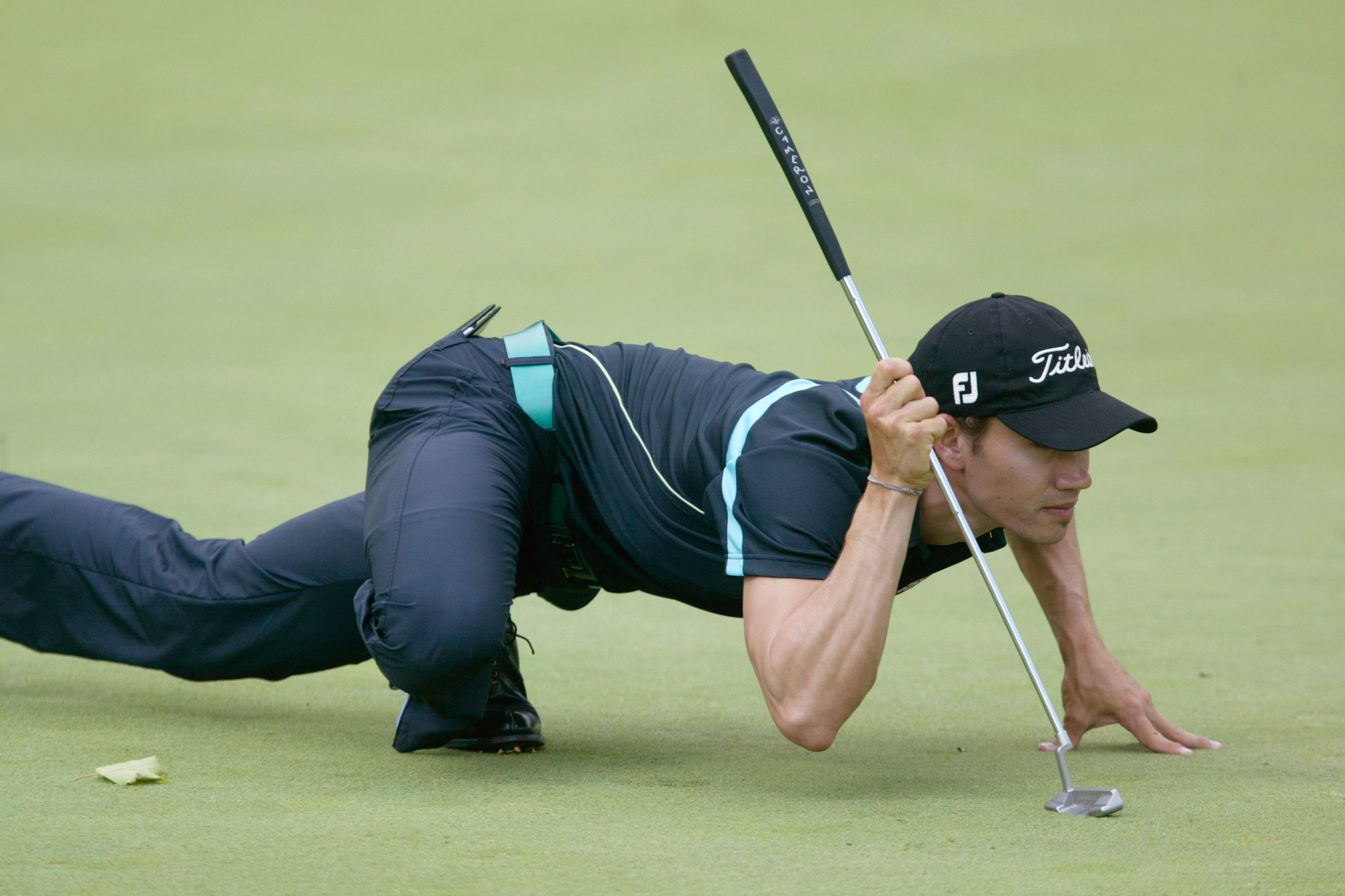A golfer takes part in the university study