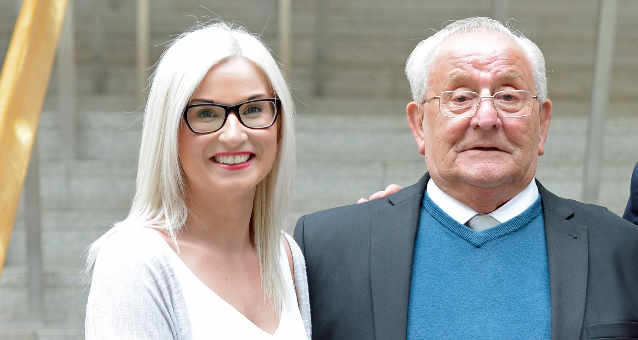 Gilly Murray and David Ramsay Snr - niece and father of suicide victim David Ramsay Jnr