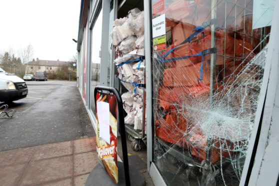 Attempted break in at the Scotmid co op in Coupar Angus