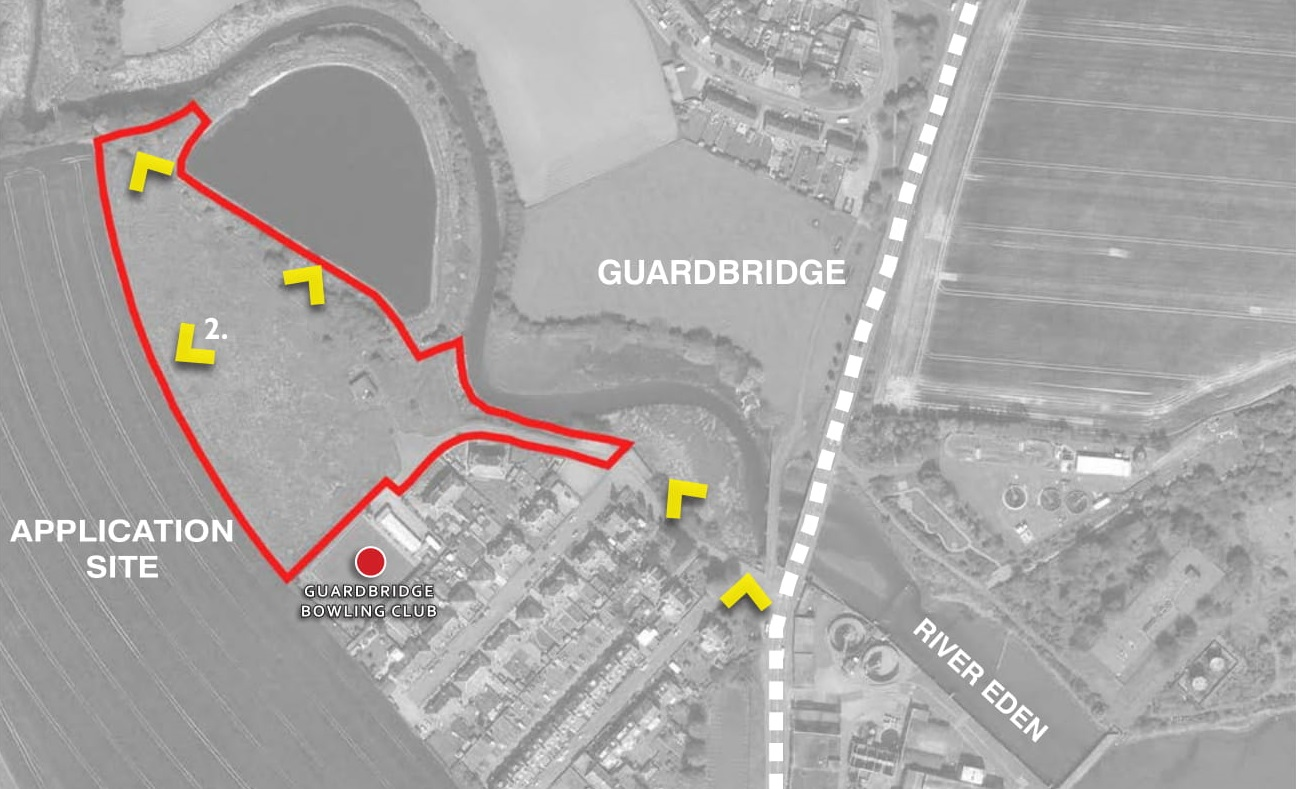 The proposed site at Guardbridge.