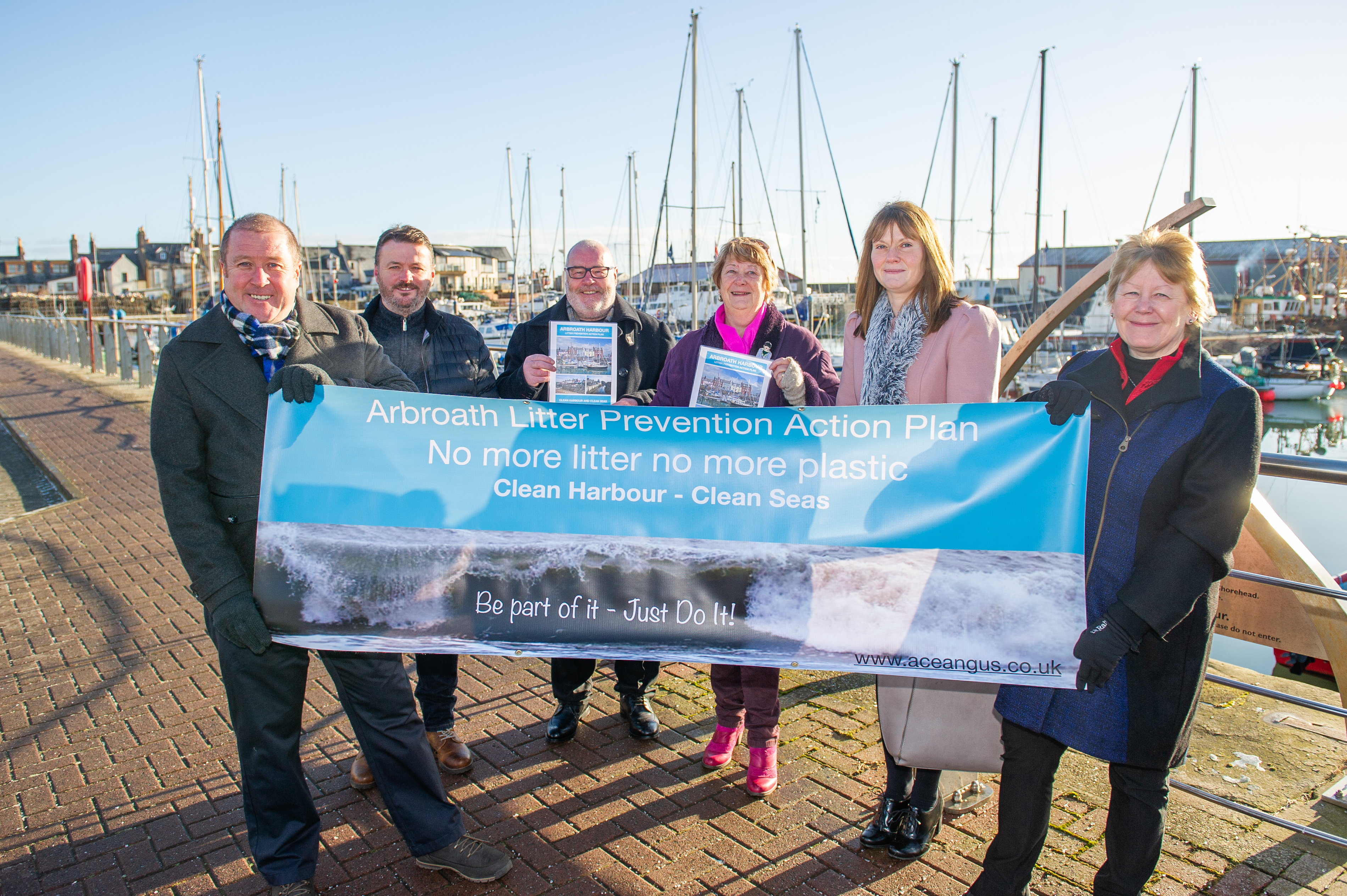 Angus Litter Prevention Group is targeting the harbour area