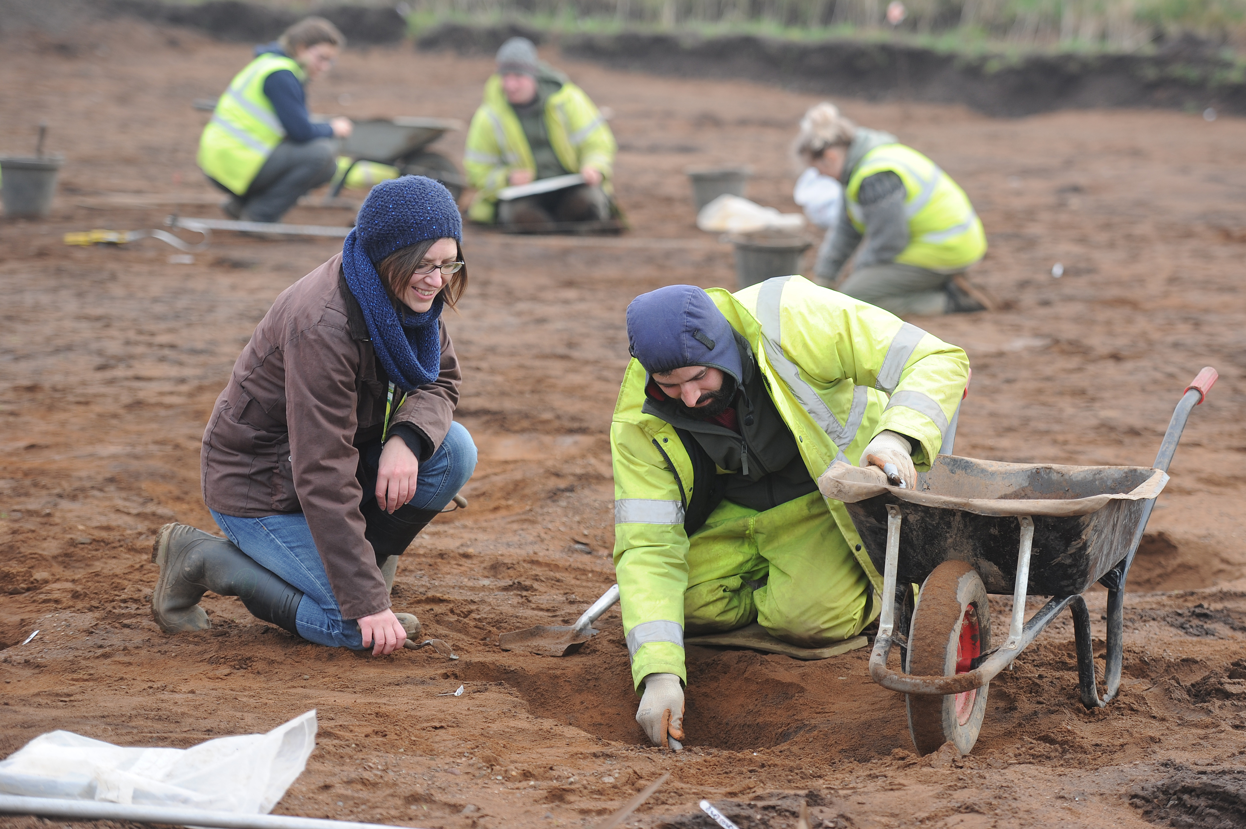 The archaeological dig which took place at Carnoustie.