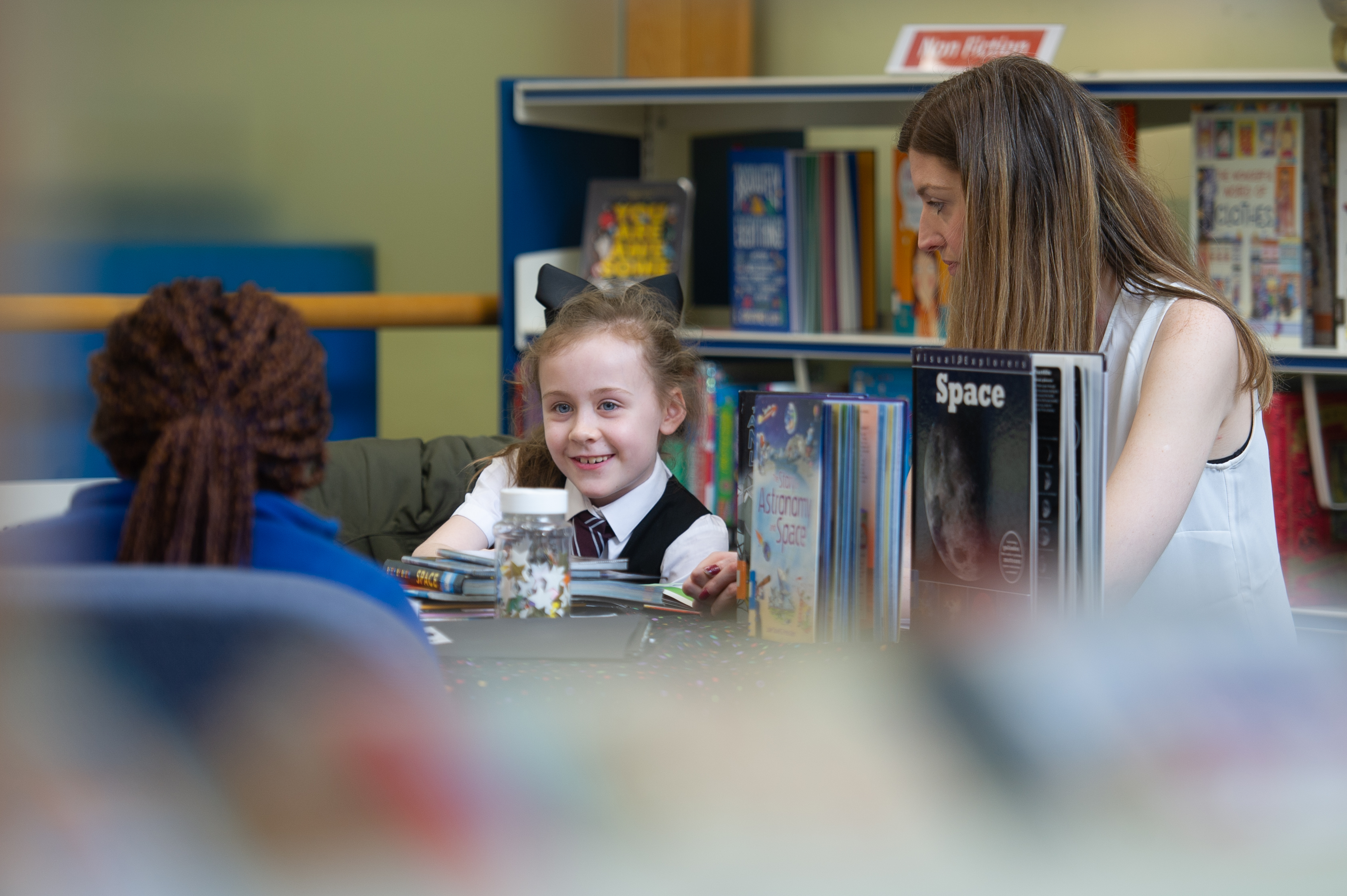 Youngsters enjoy the Fact Finders group in Dundee Central Librar