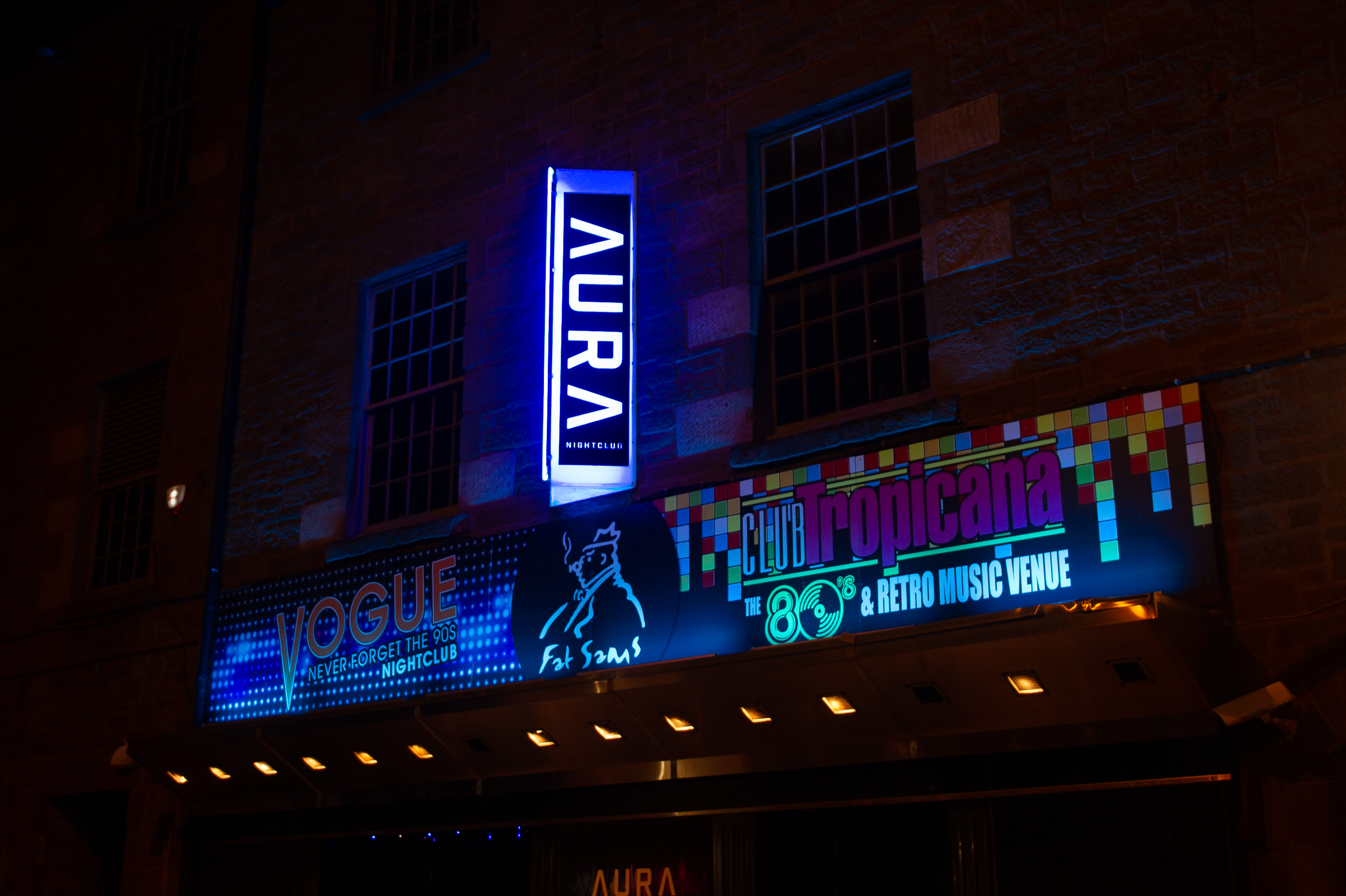 Aura nightclub in South Ward Street, Dundee.