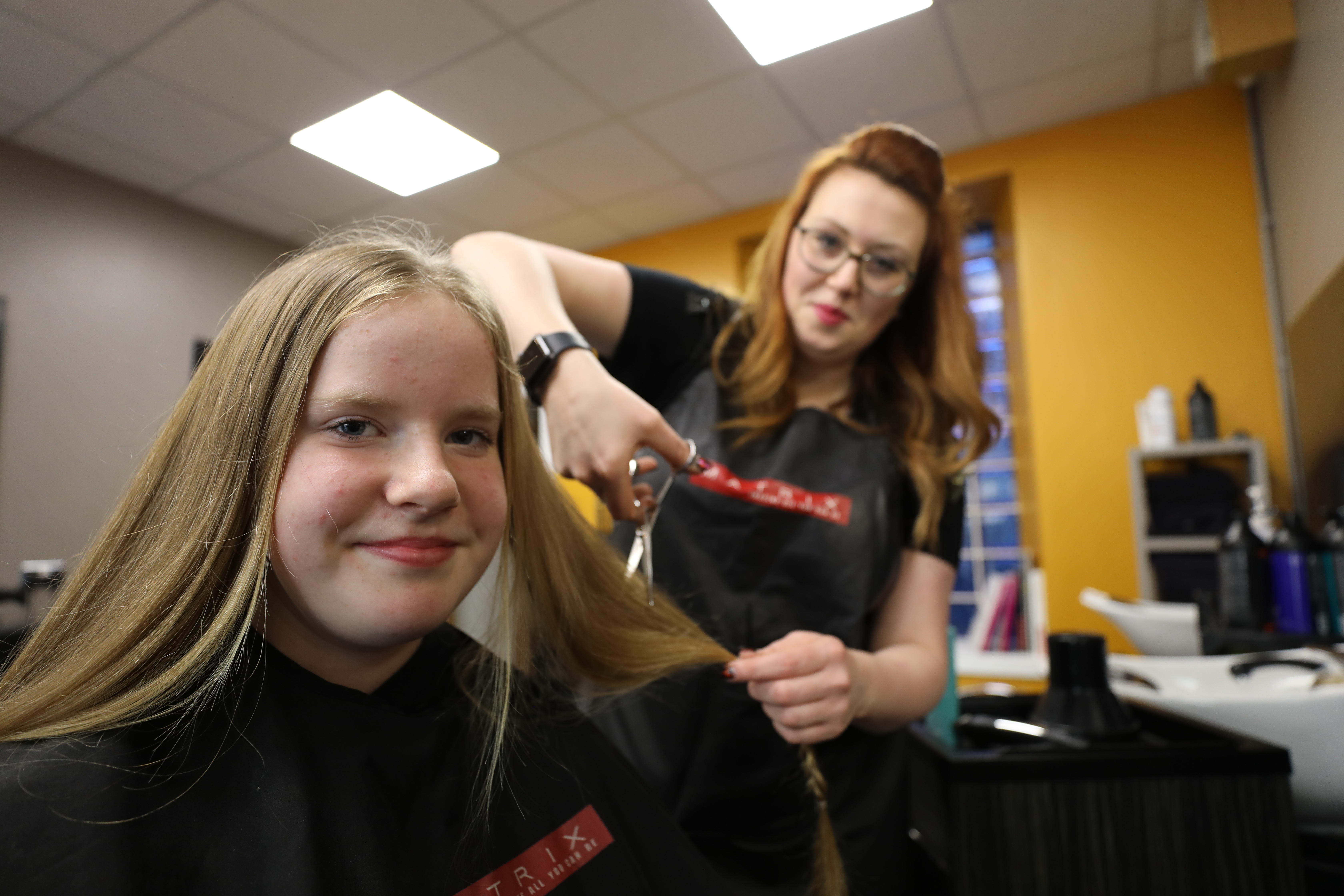 Katelyn Clark had 10 to 12 inches of her hair cut in order to be sent away to make wigs for children and young adults who have suffered with illness which has resulted in them losing their hair.