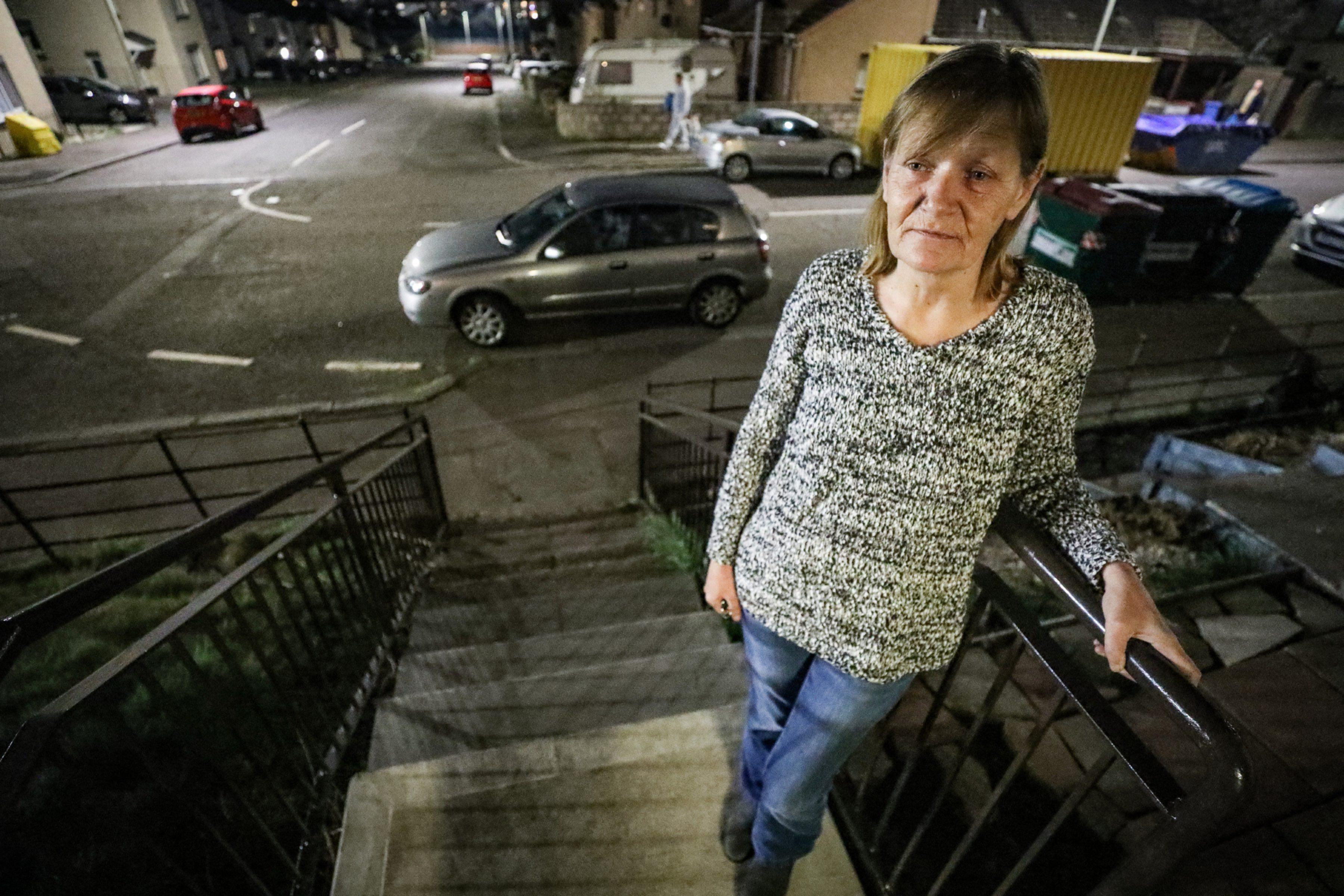 Sandra Laing outside her home.