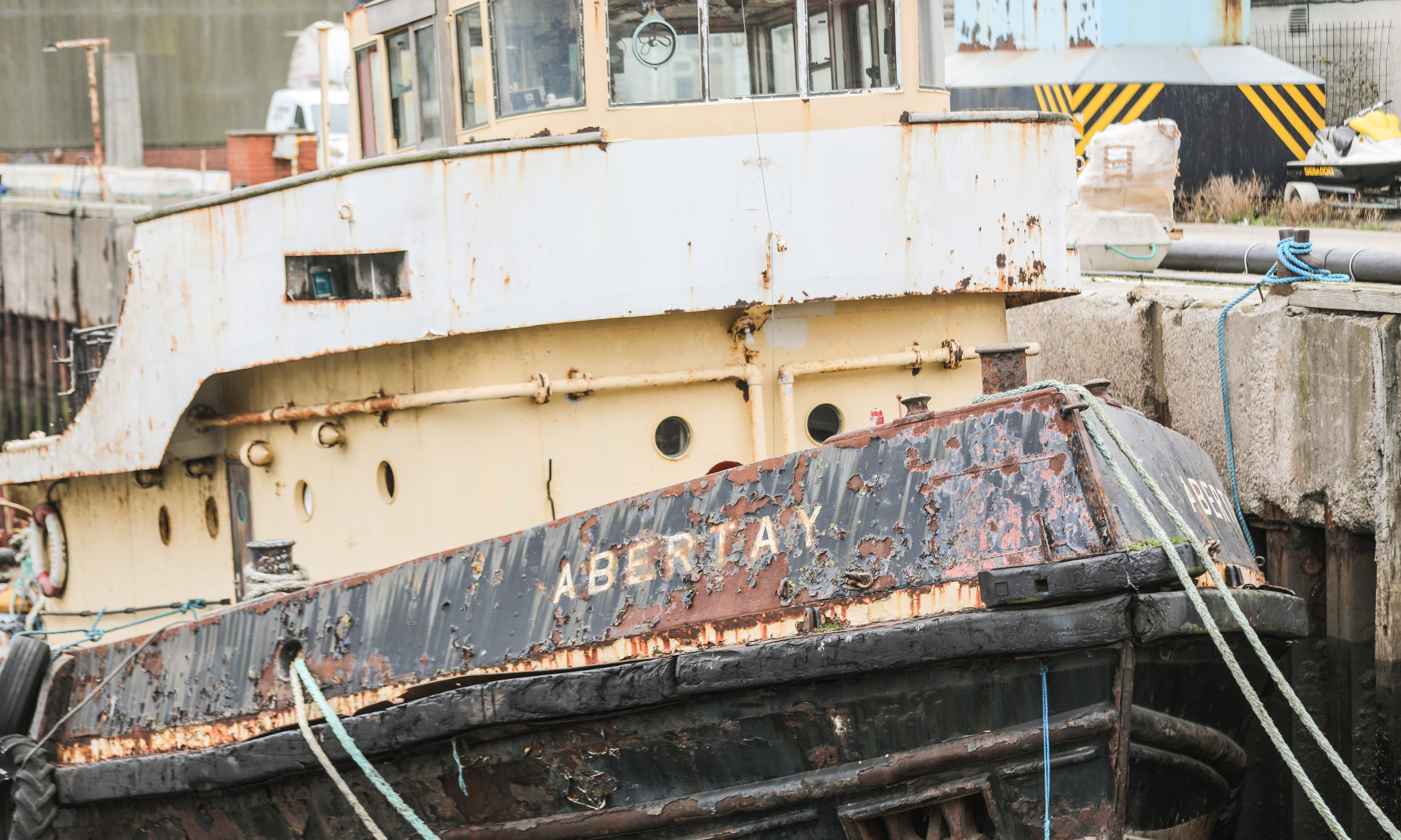 The tug boat Abertay which is been restored by a group of volunteers