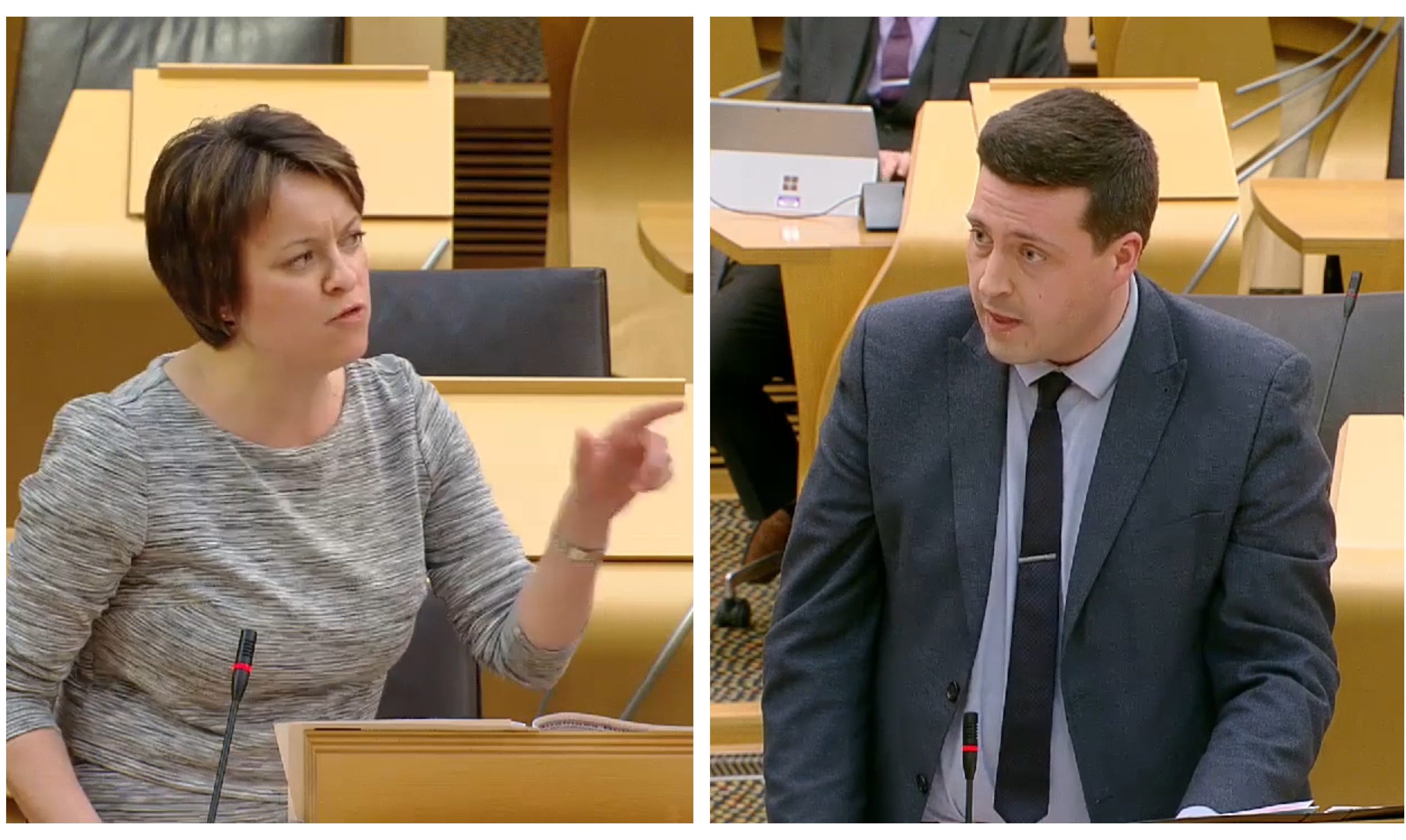 MSPs Jenny Marra and Jamie Hepburn clash in Holyrood over McGill.