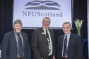 The new NFUS top table team of Martin Kennedy, Andrew McCornick and Charlie Adam.