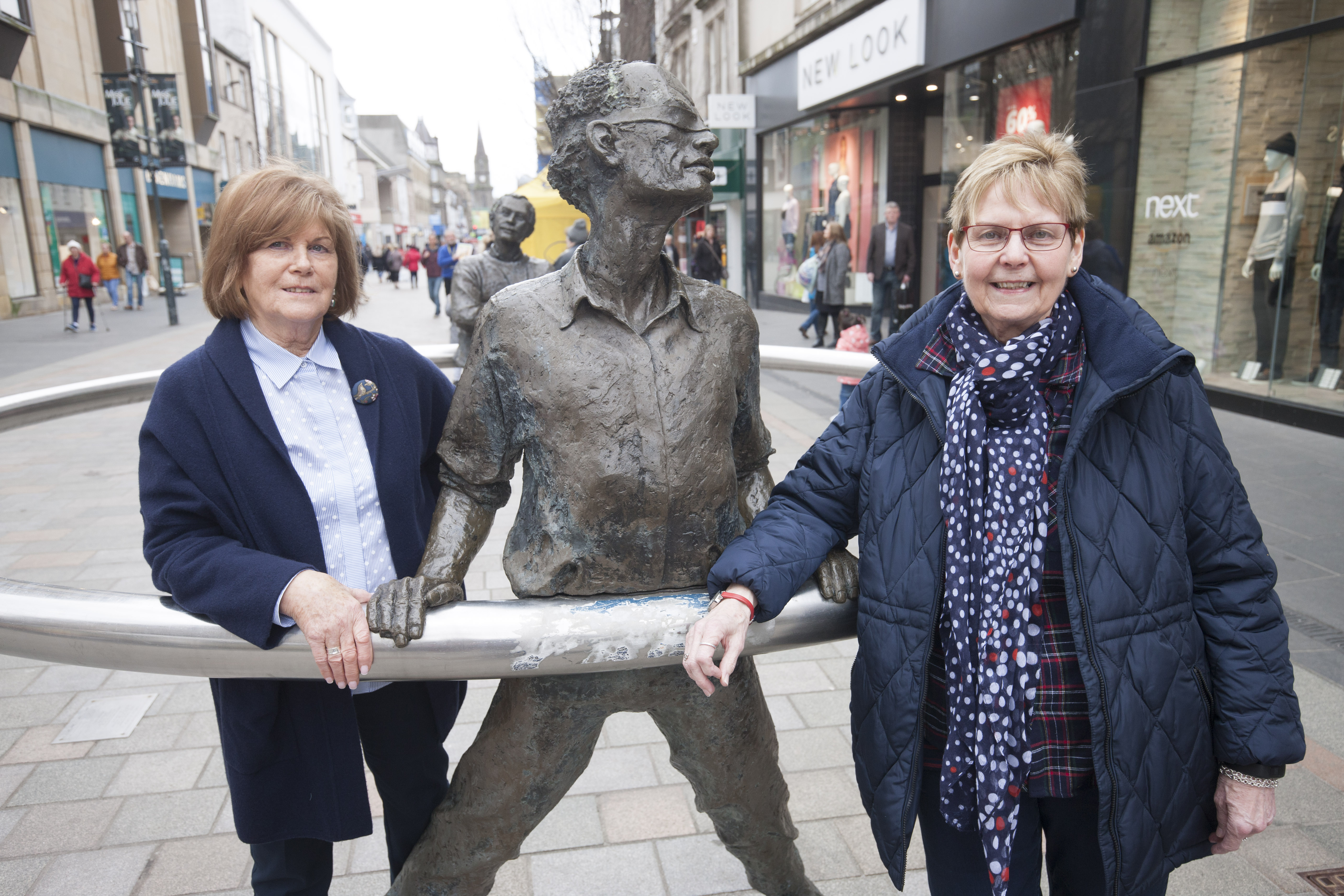 Perth City Centre Community Hub-organisers in Perth High Street. Wilma Coleman and Diane Walker