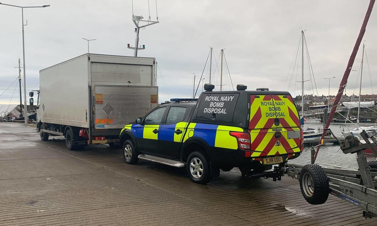 Emergency services were called to Pittenweem harbour
