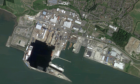 Rosyth Docks from the air.