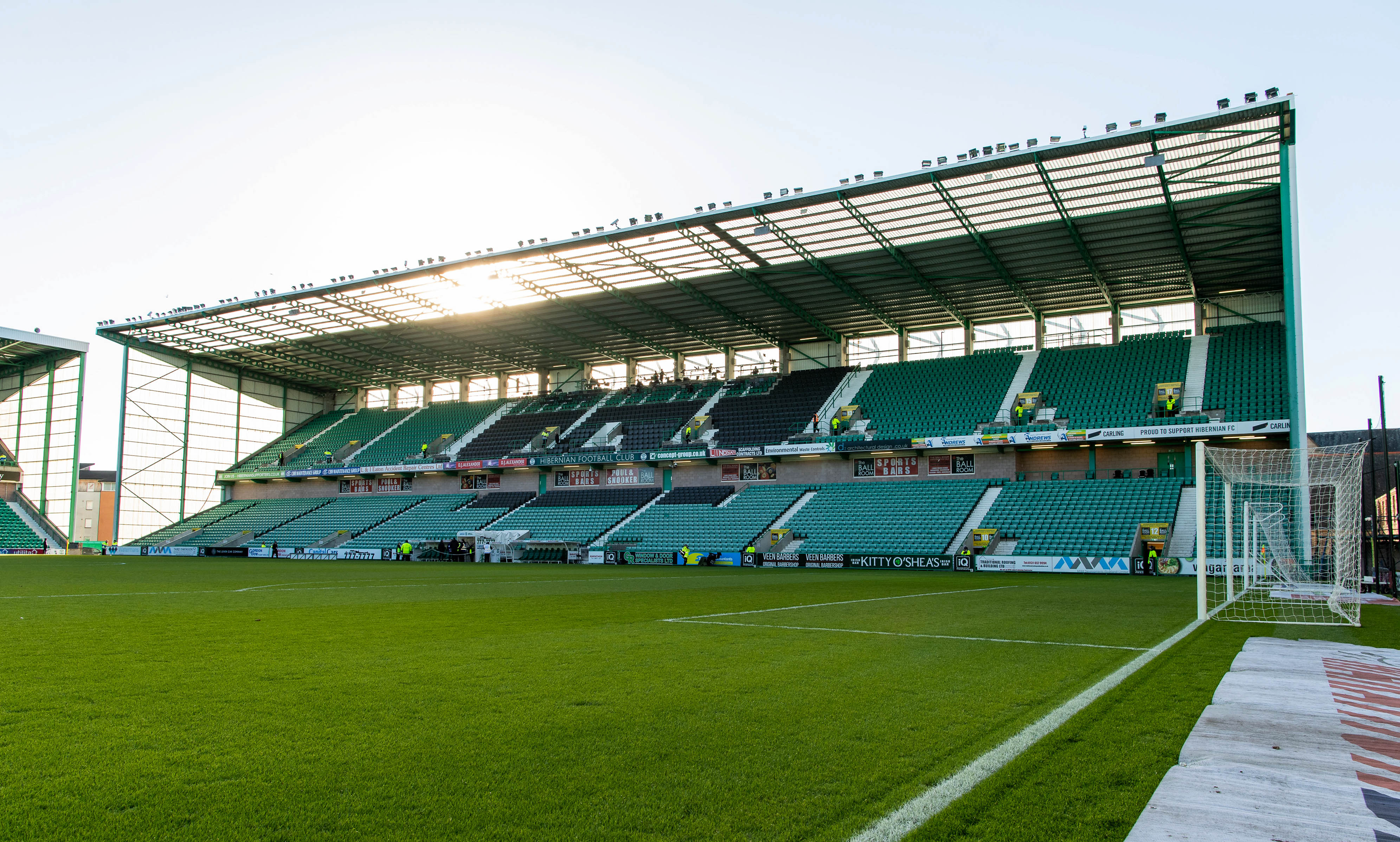 Hibernian FC's home ground at Easter Road.