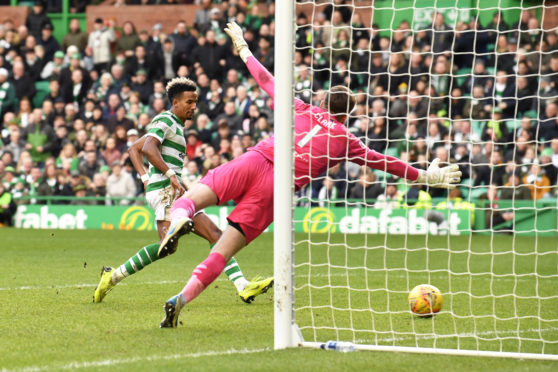 Scott Sinclair makes it 4-0 to Celtic.