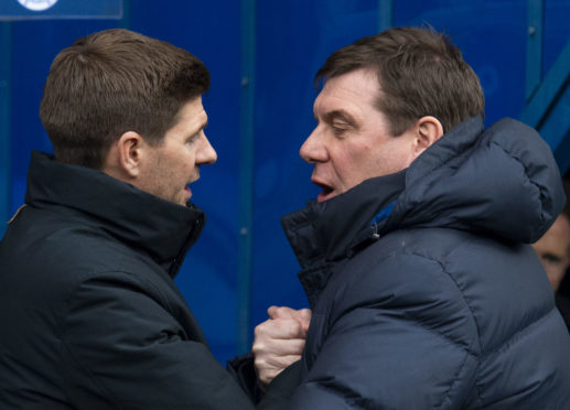 Tommy Wright and Steven Gerrard.