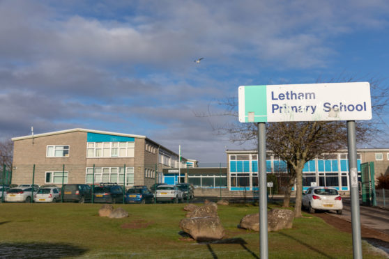 Letham Primary School, Perth, where Letham Nursery is based.