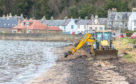 The oil spill at Limekilns.