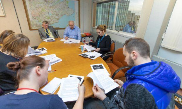Co-leaders David Alexander & David Ross meet the press ahead of the pre budget meeting.