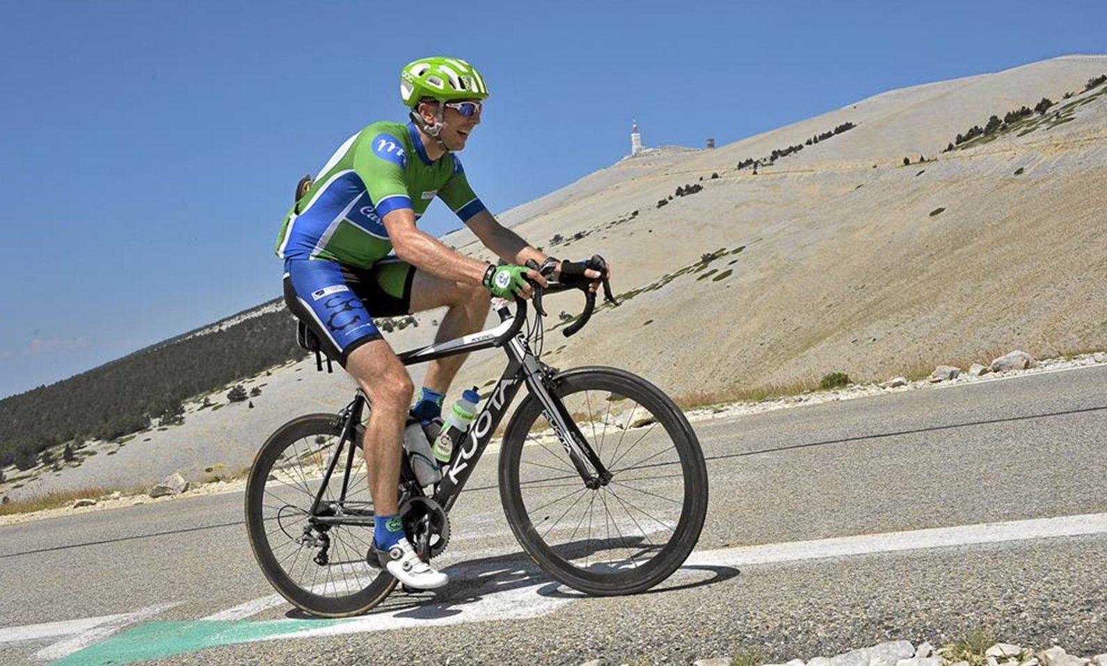 Dr Tom Fardon is a keen cyclist.