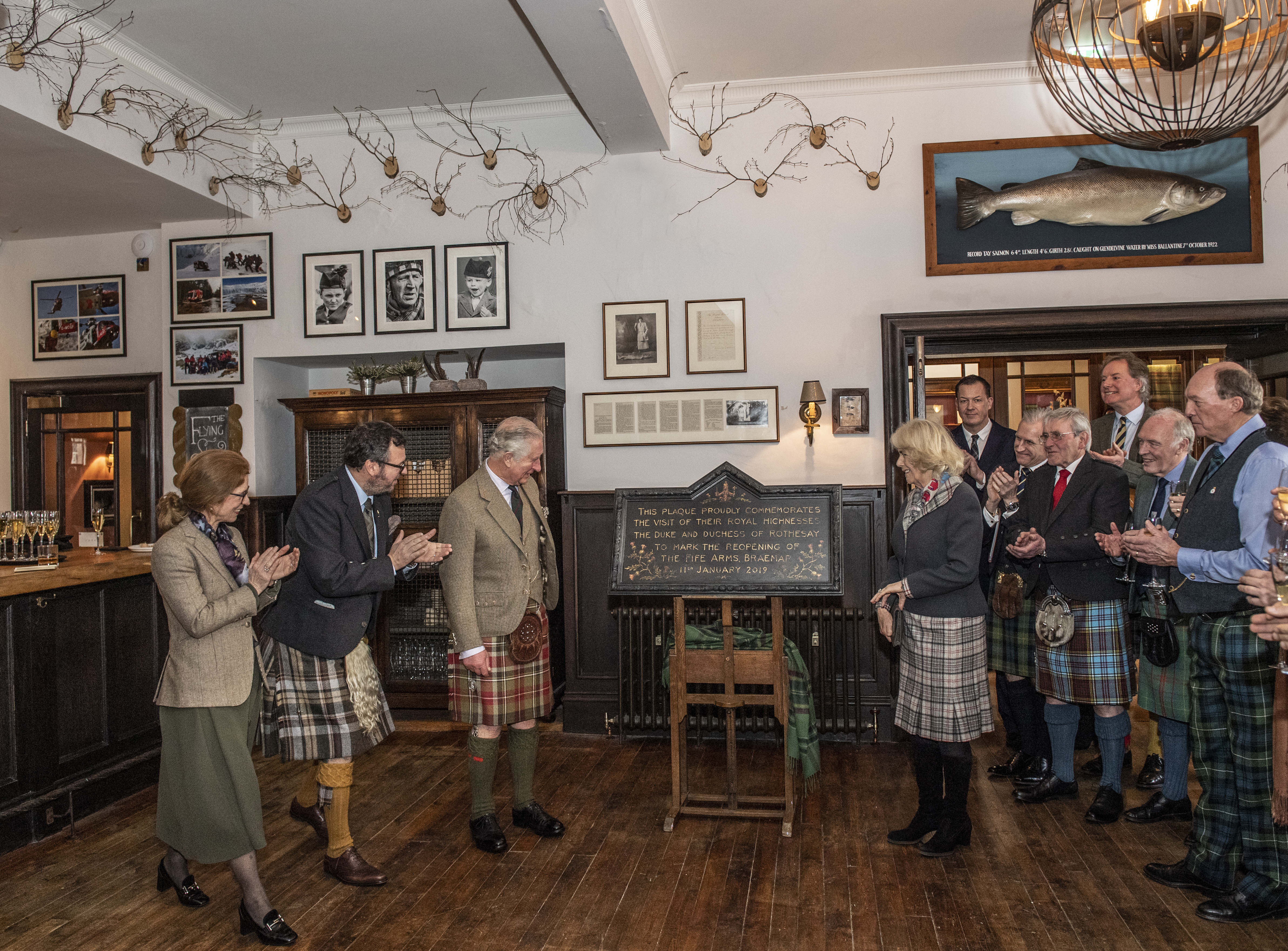 Their Royal Highnesses The Duke and Duchess of Rothesay officially open the refurbished Fife Arms.