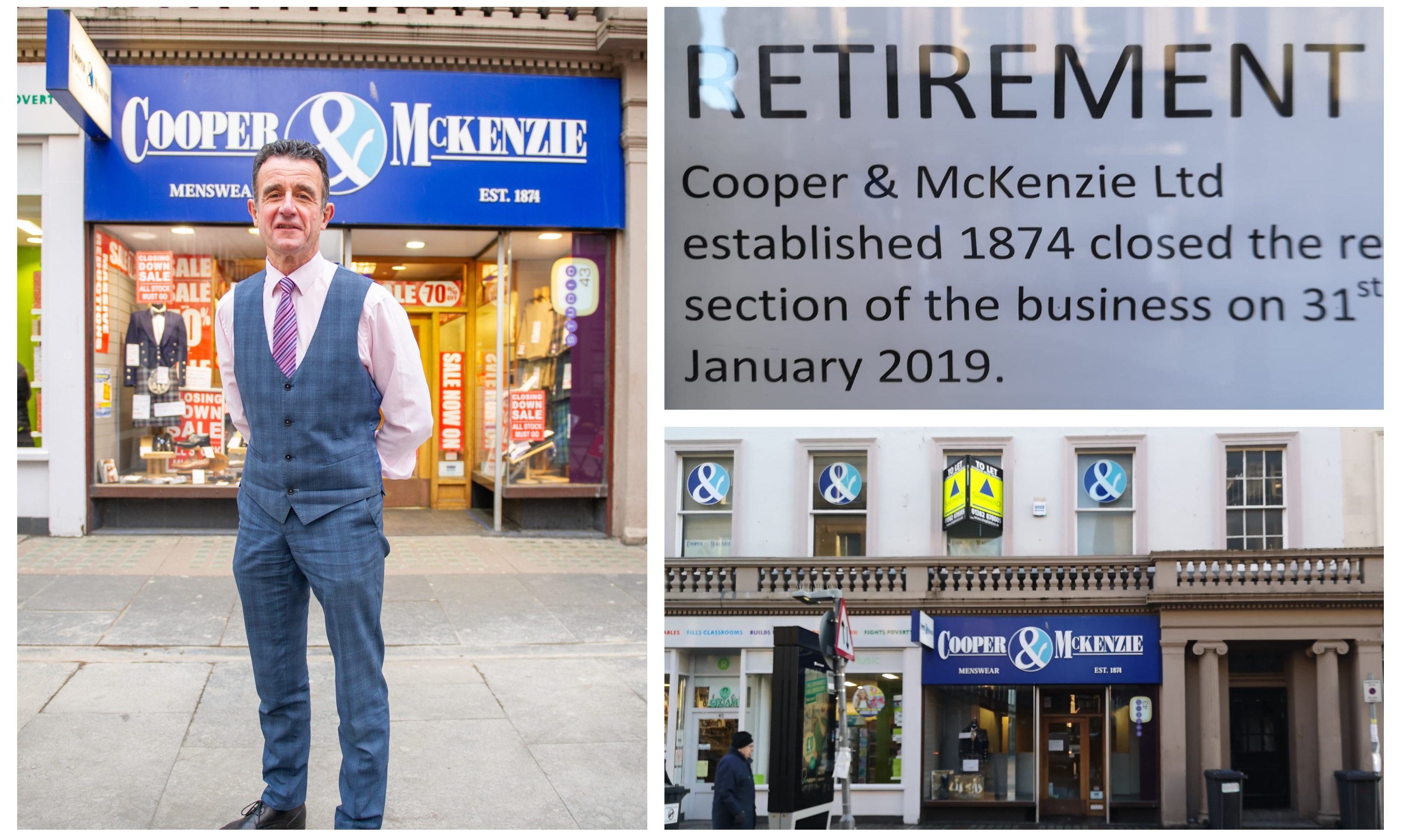 Dundee's Cooper and Mckenzie has closed.