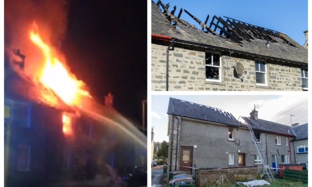 The Aberfeldy building was hit by a major fire at the weekend.