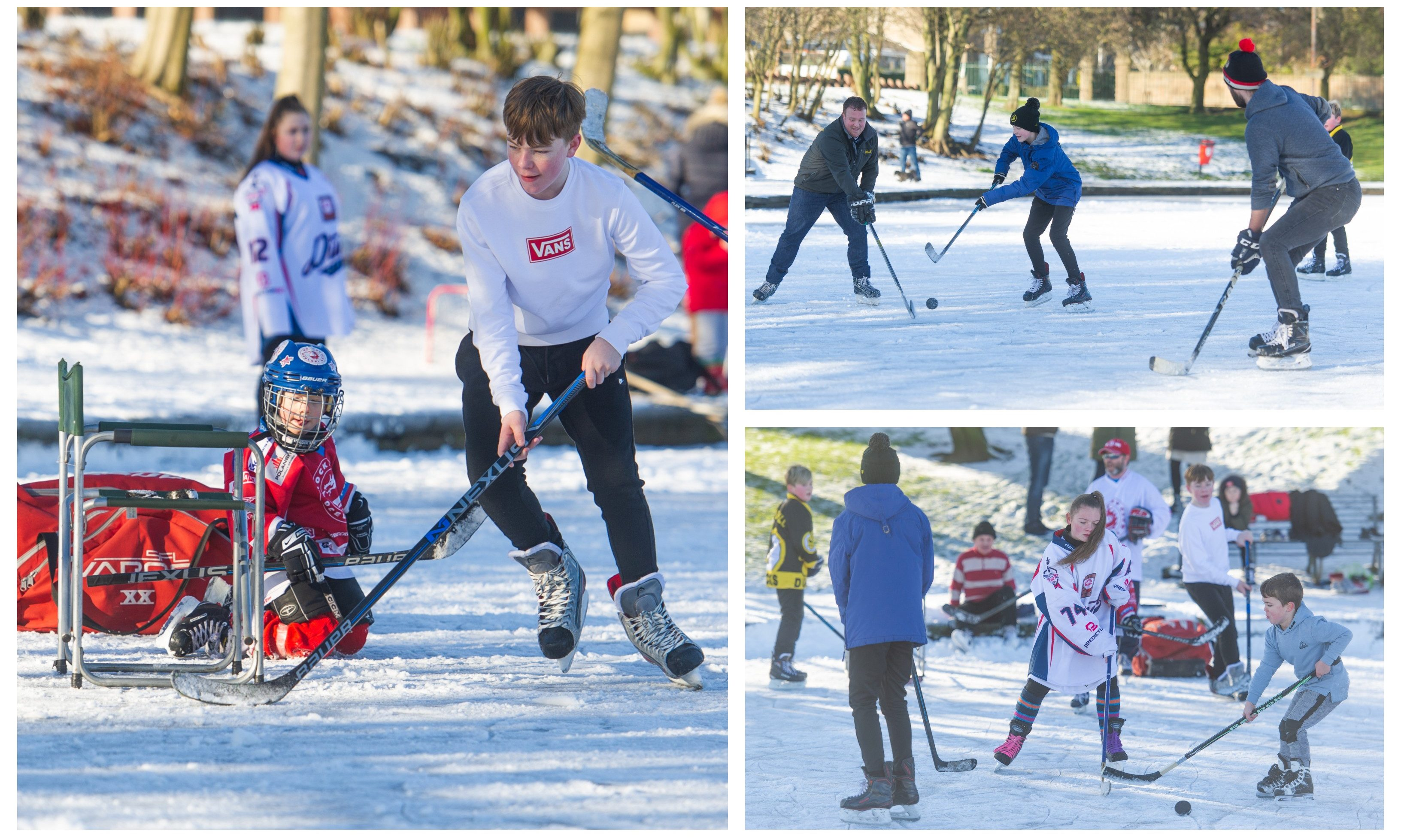 Ice hockey at Swannie Ponds.