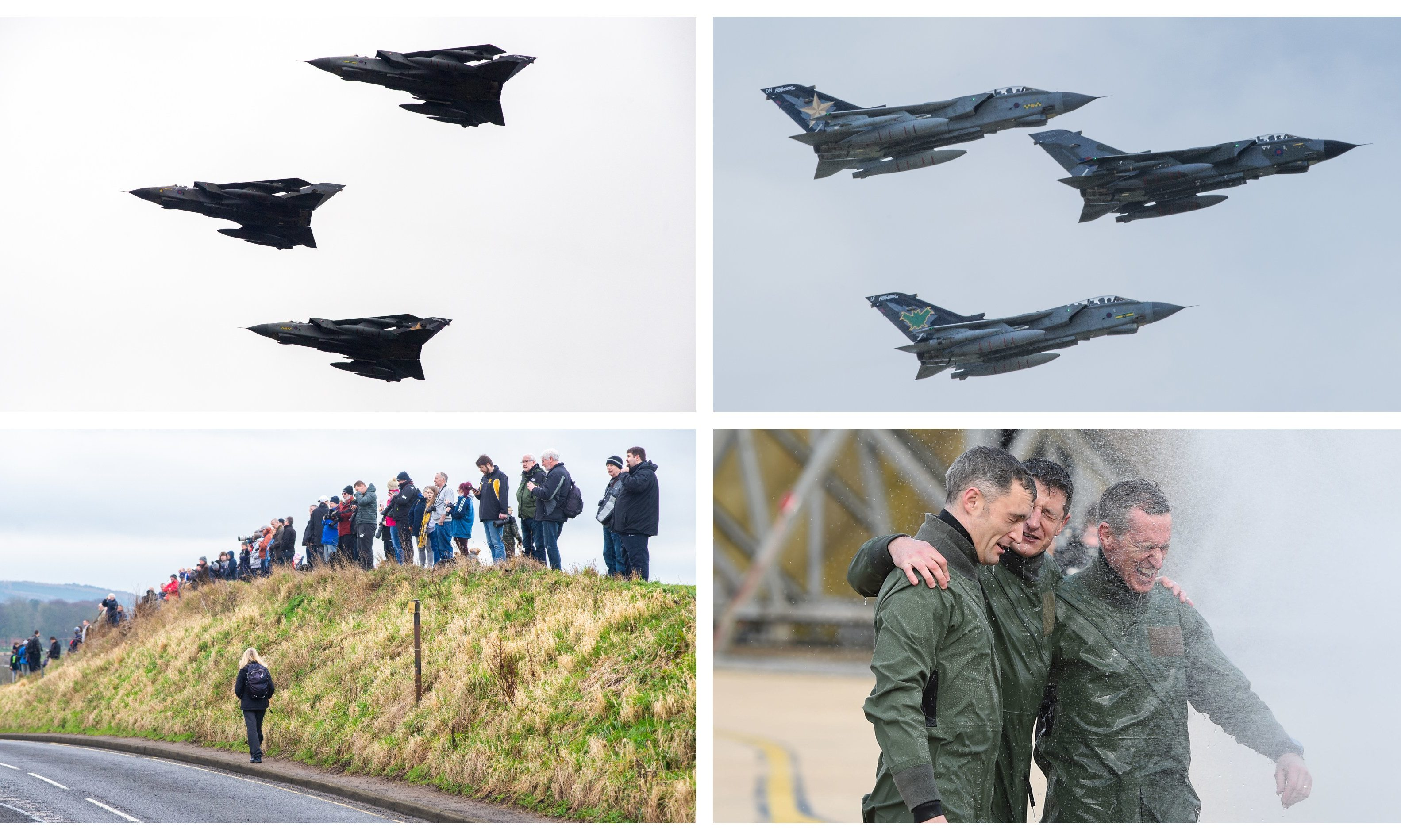 A big crowd gathered as the Tornado final flypast took in Leuchars.