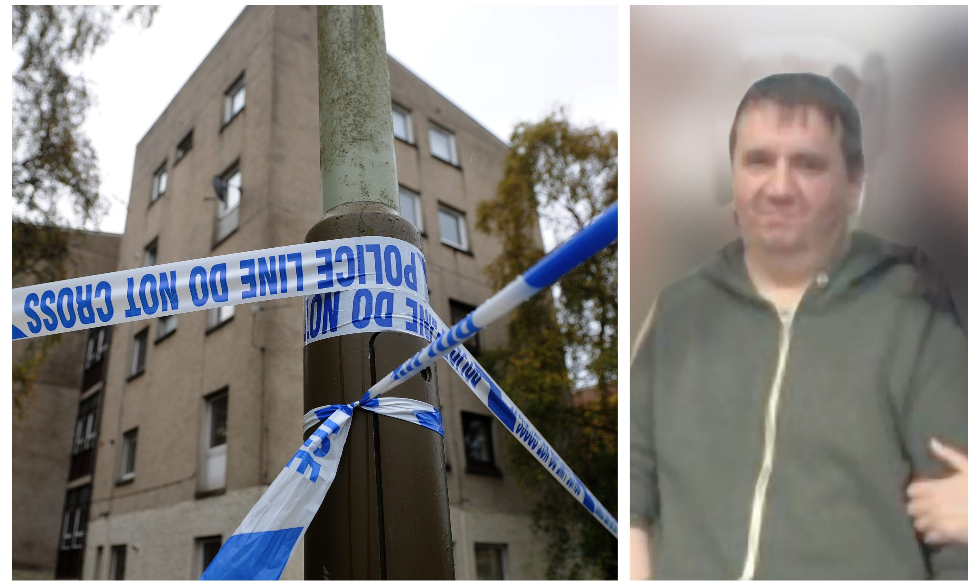 Mark Johnston and the scene of the attack.