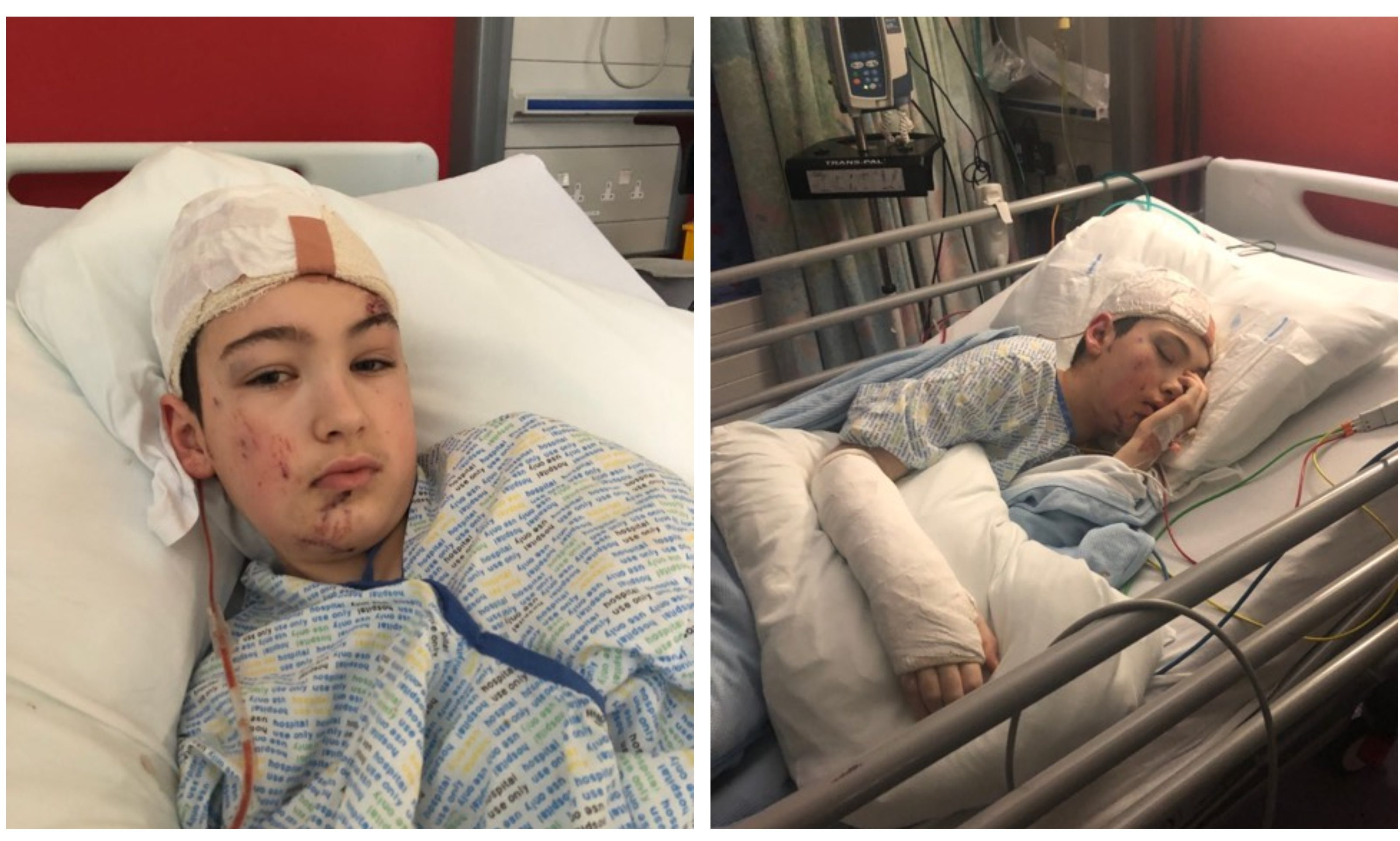 Youngster Ricky Rae who was injured in a road crash
