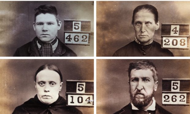 Mugshots of Victorian Perth prisoners.