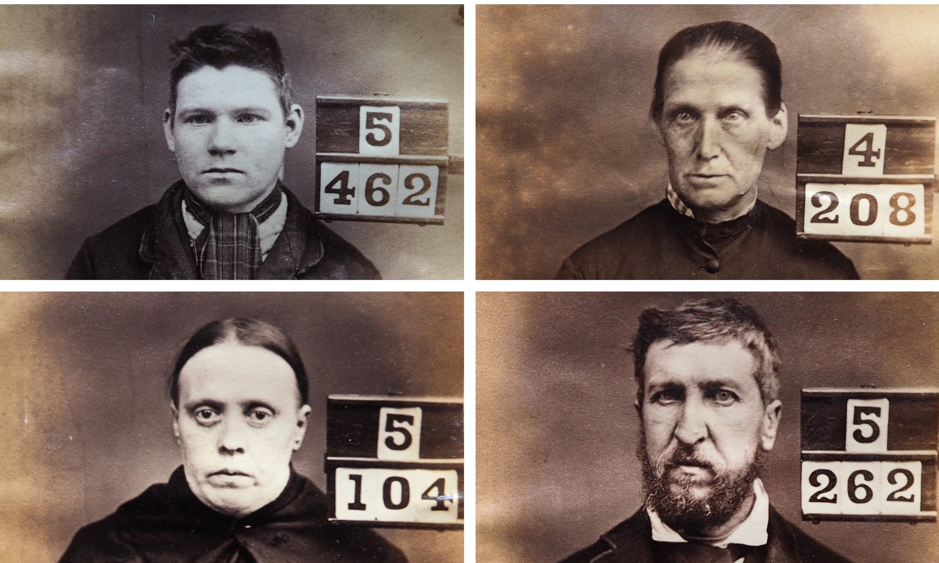 Mugshots of Victorian Perth prisoners.