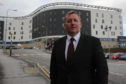 Alex Rowley pictured outside Kirkcaldy's Victoria Hospital.