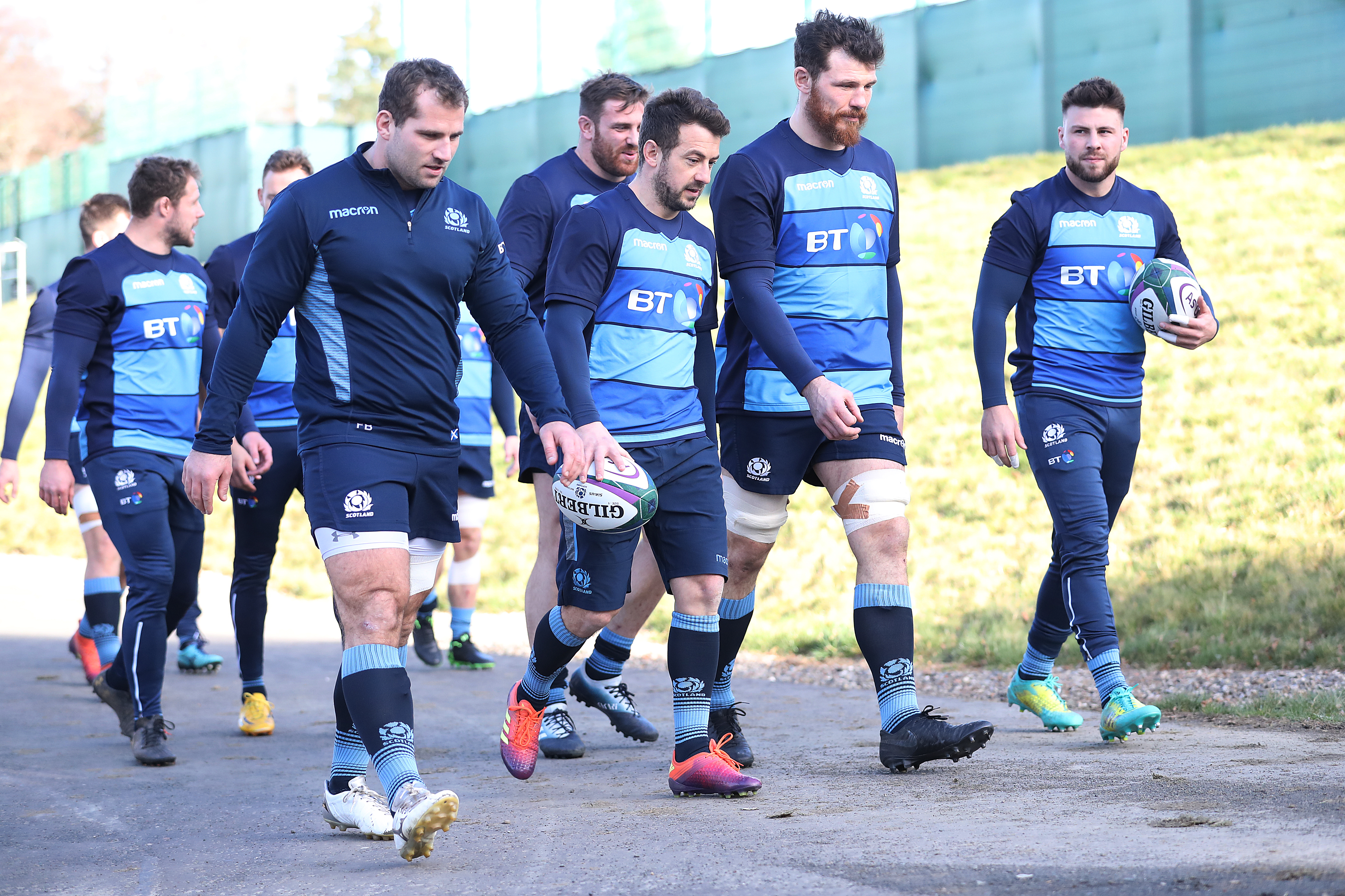 Greg Laidlaw (centre) has been replaced by Ali Price (right) in the Scotland team to play Wales.