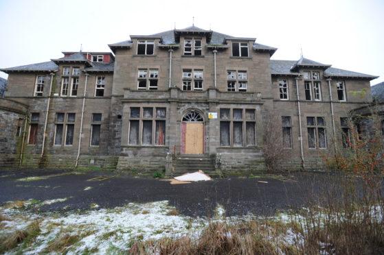 The derelict Strathmartine Hospital