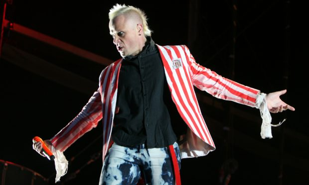 Keith Flint of The Prodigy at T in the Park in 2008.