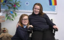 Ayley (left) and Chloe are preparing for major sporting events