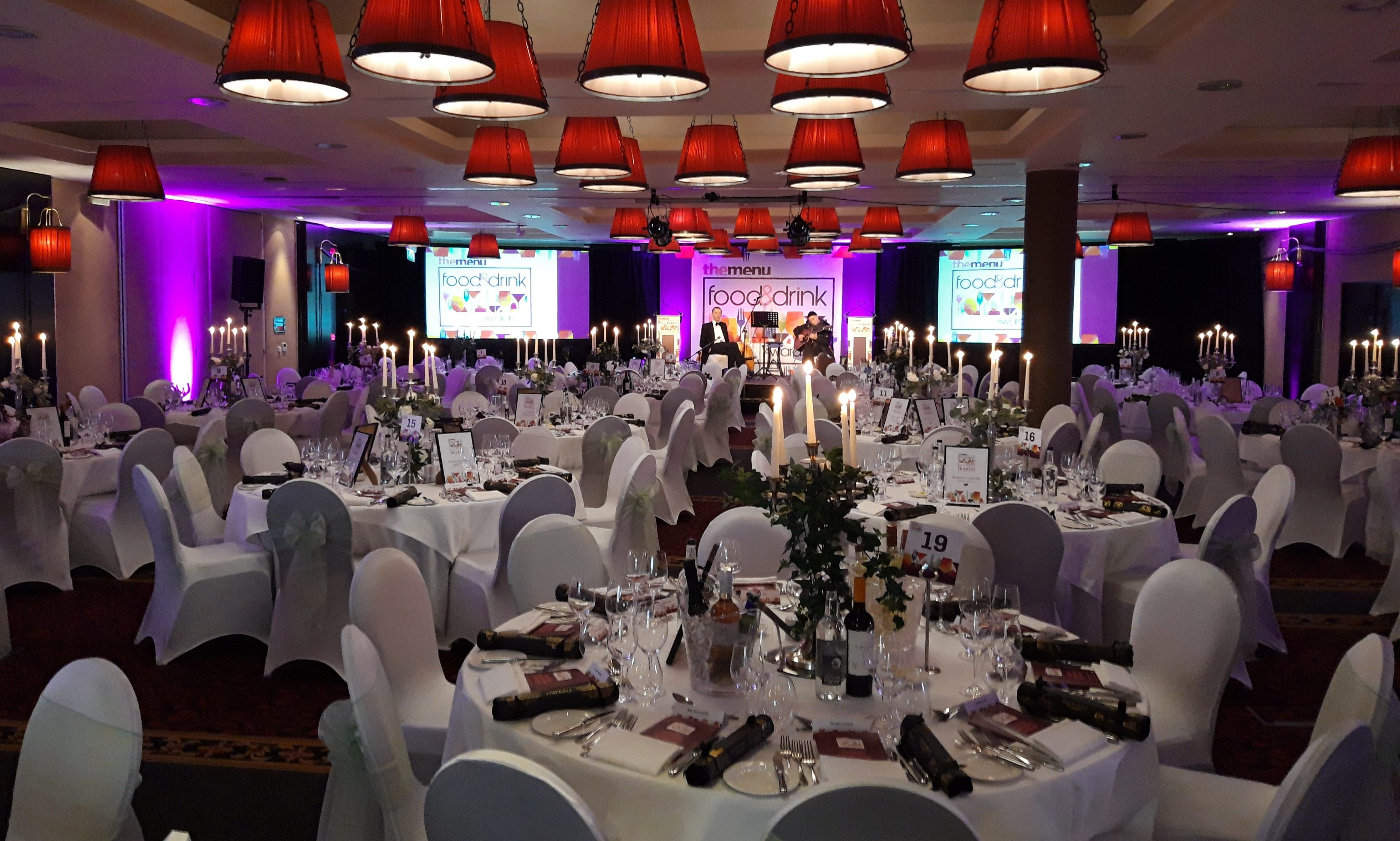 The stage is set for the 2019 The Menu Food and Drink Awards.