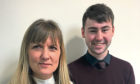 Lisa Bray of Eden Fyfe Accounts with trainee accounts assistant Jake Brown.