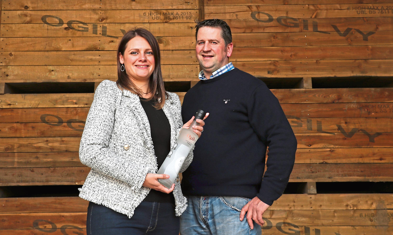 Caroline and Graeme Jarron, owners of Ogilvy Vodka