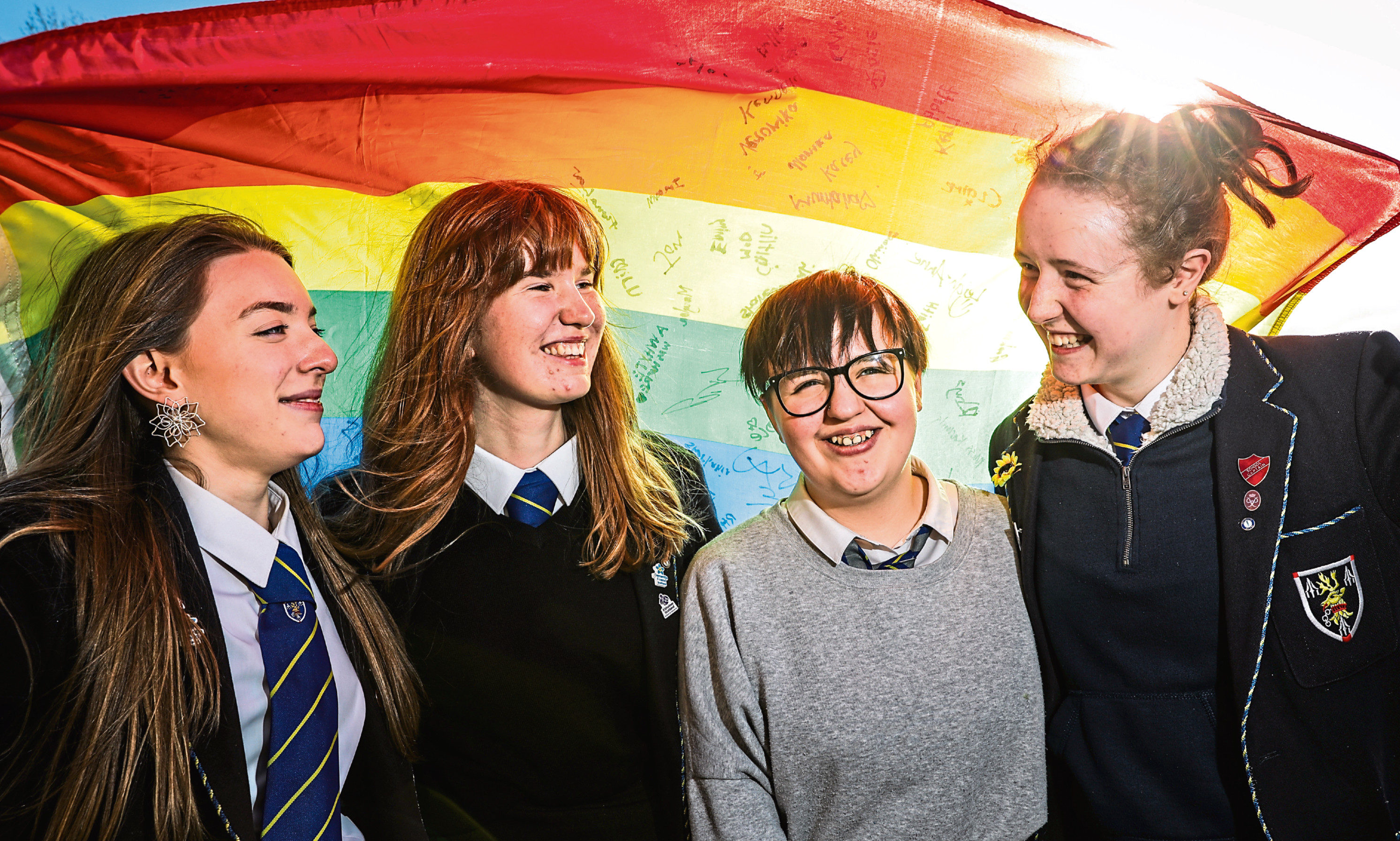 Shannon Robertson, 17, Robyn Thomson, 17, Aimee Whyte, 14 and Robyn White, 18.
