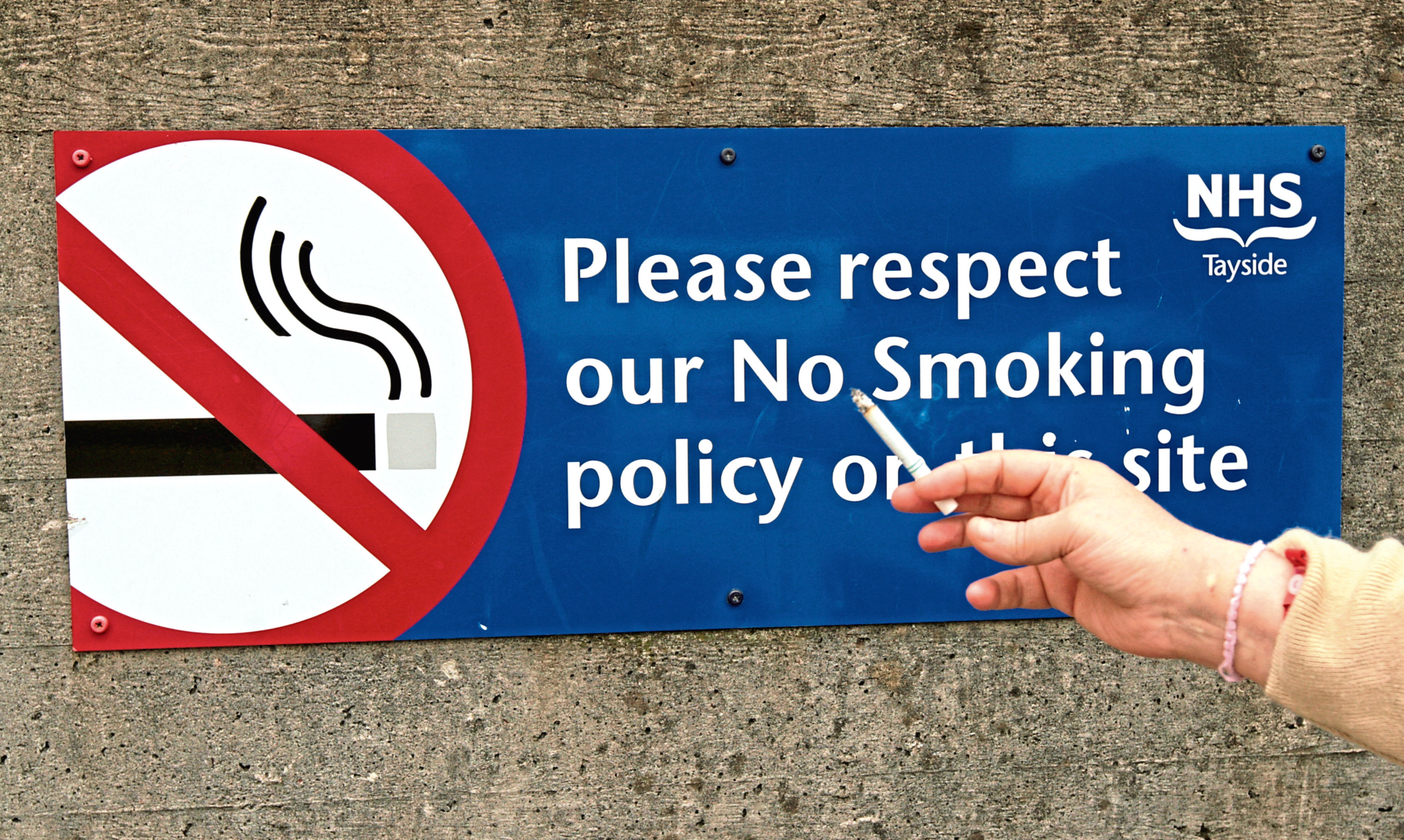 NHS Tayside sites have been smoke-free for several years